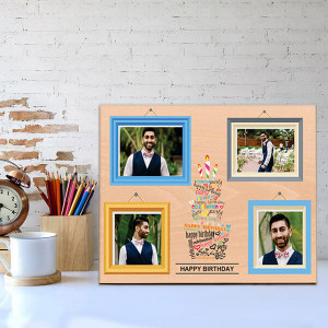 Personalised Wooden Birthday Frame - Personalised Photo Gifts Online