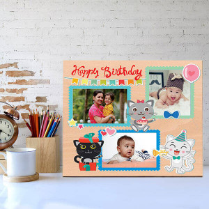 Personalised Cute Wooden Birthday Frame - Personalised Photo Gifts Online