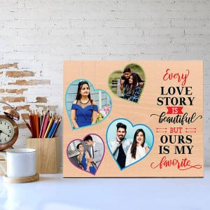 Favourite Love Story Wooden Photo Frame - Personalised Photo Gifts Online