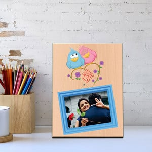 With Love Wooden Photo Frame - Personalised Photo Gifts Online