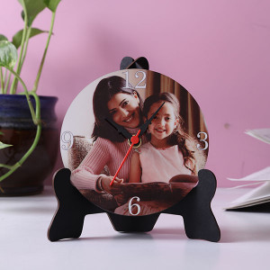 Royal Table Clock With Stand - Personalised Photo Gifts Online