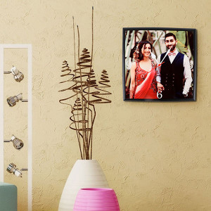 Personalised Square Wall Clock - Personalised Photo Gifts Online