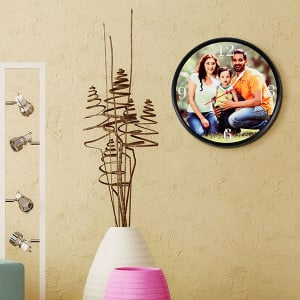 Stylishly Simple Wall Clock - Personalised Photo Gifts Online