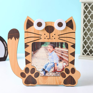 Customised Kids Cat Shape Photo Frame - Personalised Photo Gifts Online