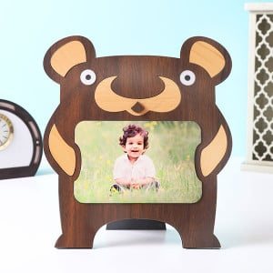 Customised Kids Bear Shape Photo Frame - Personalised Photo Gifts Online