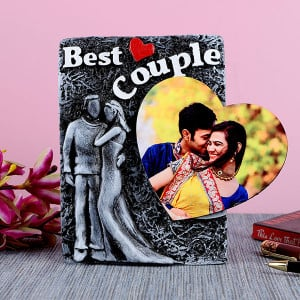 Personalised Best Couple Photo Frame With Heart - Personalised Photo Gifts Online