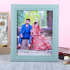 Customised Denim Photo Frame - Personalised Photo Gifts Online