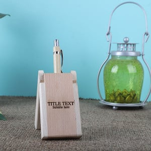 Personalised Wooden Pen Holder - Personalised Photo Gifts Online