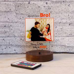 Bro Personalised Lamp - Rakhi for Brother Online