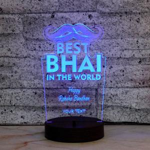 Bhai Personalised LED Lamp - Rakhi for Brother Online