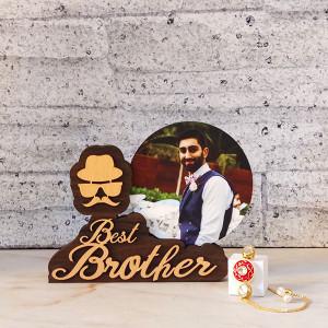 Personalised Frame with Rakhi - Rakhi for Brother Online