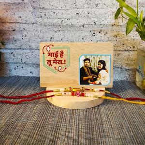Plaque with Rakhi - Rakhi for Brother Online