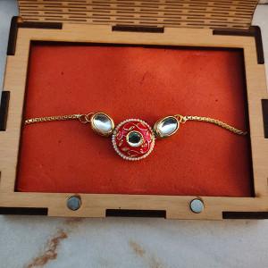 Rakhi Wooden Gift Box - Rakhi for Brother Online