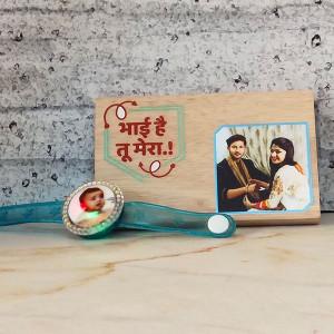 Rakhi with Plaque - Rakhi for Brother Online