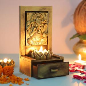 Vamamukhi Ganesha Idol With A Drawer - Online Home Decor Items
