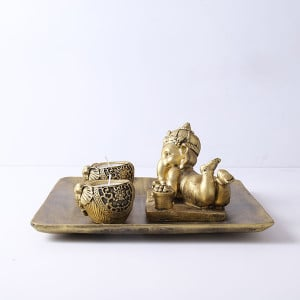 Ganesha T Light Holder - Send Candles Online