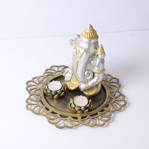 Elegance Ganesha With Wooden Tray - Online Home Decor Items