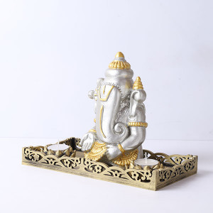 Ganpati Gift Set With Tray - Online Home Decor Items