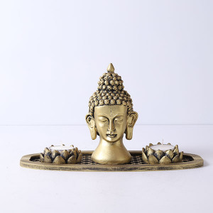 Beautiful Buddha In An Oval Shape Tray - Online Home Decor Items