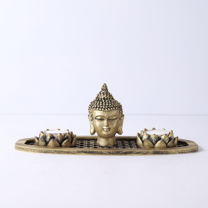 Buddha God Head In An Oval Shape Tray - Online Home Decor Items