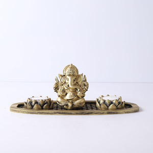 Ganpati Gift Set In An Oval Shape Tray - Online Home Decor Items