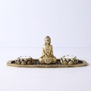 Meditating Buddha In An Oval Shape Tray - Online Home Decor Items