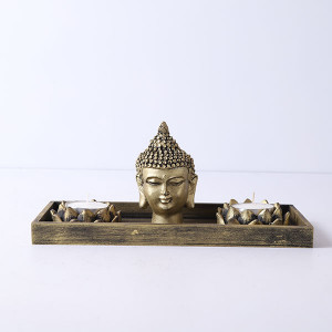 Buddha God Head With T Light Holder - Online Home Decor Items