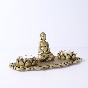 Buddha Decorative T Light Holder - Send Candles Online