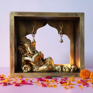 Decorative Reading Ganesha In Mandir - Online Home Decor Items