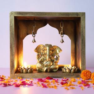 Ganpati In Mandir - Online Home Decor Items