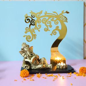 Ganesha Below Divine Tree - Online Home Decor Items