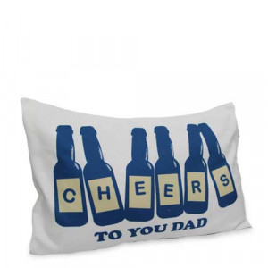 Cheers Pillow Cover - Personalised Photo Gifts Online