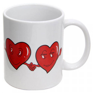 Heart Design Mug - Mugs