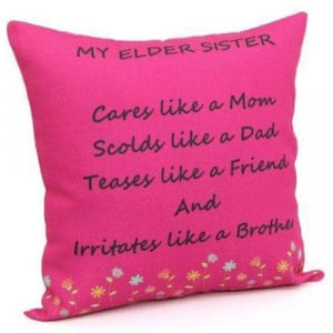 Printed Cushion For Sister - Cushion