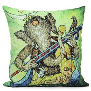 Ganesh Print Cushion - Cushions