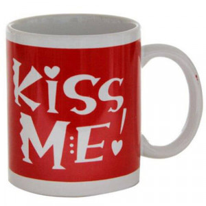 Kiss Me Ceramic Mug - Kiss Day Gifts Online