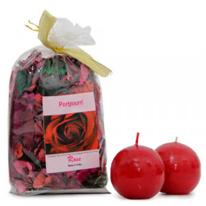 Potpourri And Candle Combo - Send Gifts to Mohali