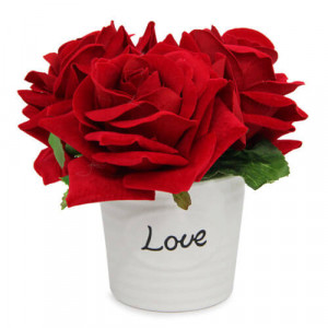 Love Rose Arrangement - Marriage Anniversary Gifts Online