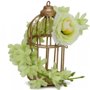 Cage and Flower Arrangement - Online Gifts