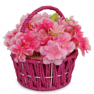 Pink Flower Basket - Online Gifts