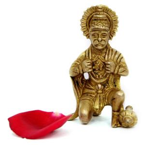 Godly Hanuman Brass Figurine - Spiritual Gifts Online