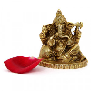 Godly Ganesha Brass Figurine - Online Home Decor Items