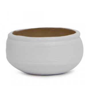 Round White Planter - Plant Containers