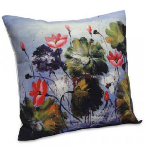 Abstract Flora Cushion - Cushion
