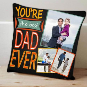 Personalize Best Dad Cushion - Cushion