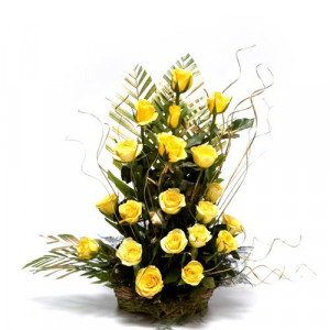 Sunshiny Days - Flower Basket Arrangements Online