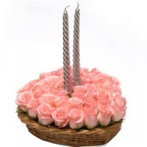 Pink Always Perfect - Flower Basket Arrangements Online