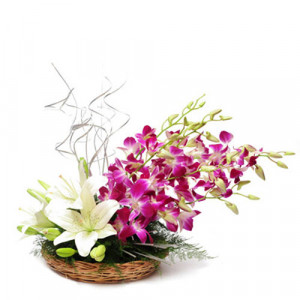 Esteemed Ensemble - Flower Basket Arrangements Online