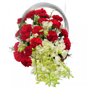 Charming beauty - Flower Basket Arrangements Online