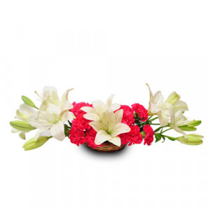 Pure love - Flower Basket Arrangements Online